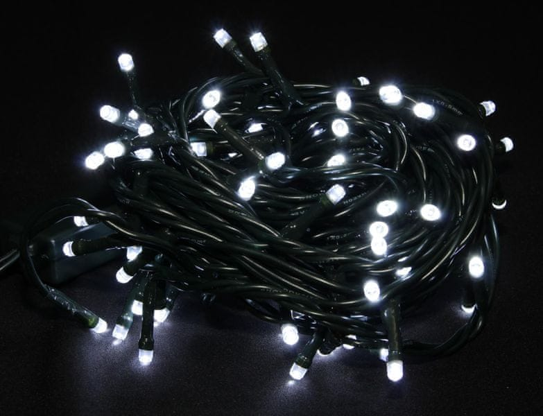 Seizis LED osvětlení 100 žárovek bílé, 8 funkcí