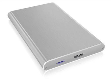 "IcyBox IB-242U3 zunanje ohišje, 6,35 cm (2,5"") SATA, USB 3.0, aluminijasto"