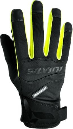 Silvini rokavice Fusaro UA745, črna/neon, 3XL