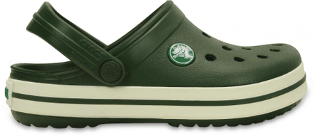 Crocs natikači Crocband Kids Forest Green, otroški, 34-35