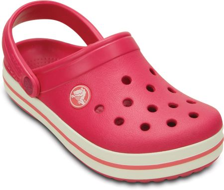 Crocs natikači Crocband Kids Raspberry White, otroški, 27-29