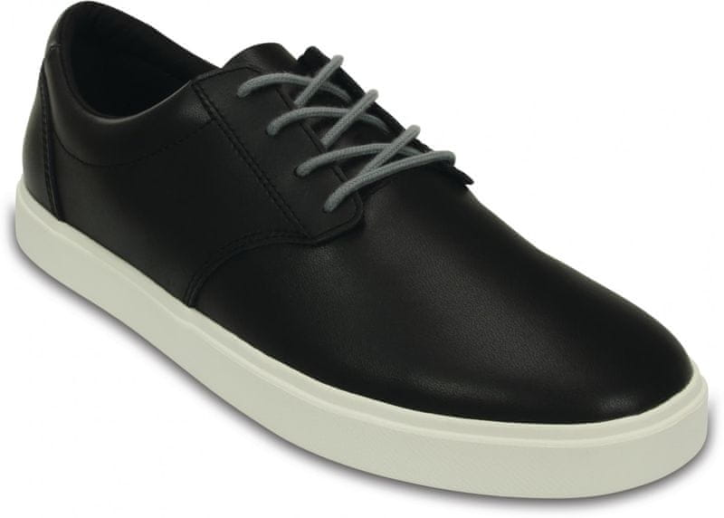 Crocs CitiLane Leather Lace-up M Black/White 46-47 (M12)