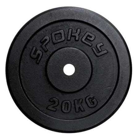 Spokey Sinis súlyzótárcsa, 20 kg