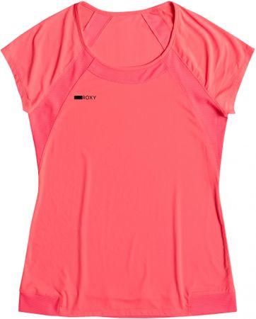 Roxy ženska športna majica Risingrun Tee, roza, XS