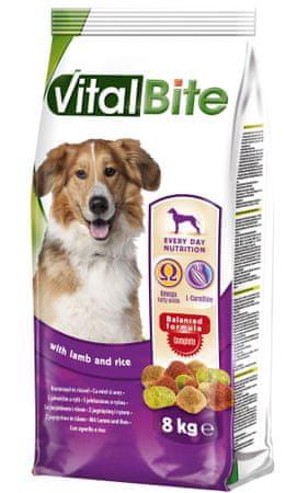 VitalBite Granulki dla psów z jagnięciną i ryżem 8 kg