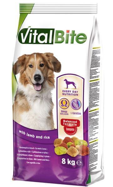 VitalBite Granule pro psy s jehněčím a rýží 8 kg