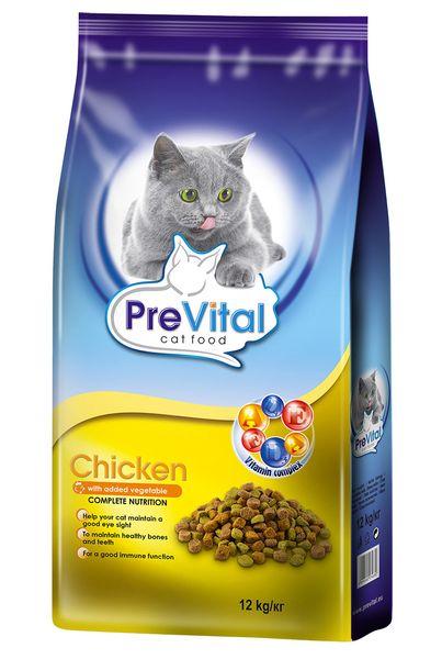 PreVital Granule pro kočku s kuřecím a zeleninou 12 kg