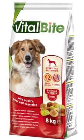 VitalBite Granule pre psy s hydinovým, hovädzím a zeleninou 8 kg