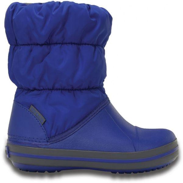 Crocs Winter Puff Boot Kids Cerulean Blue/Light Grey 34-35 (J3)