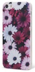EPICO pružný plastový kryt, iPhone 5/5S/SE, VIOLET FLOWERS