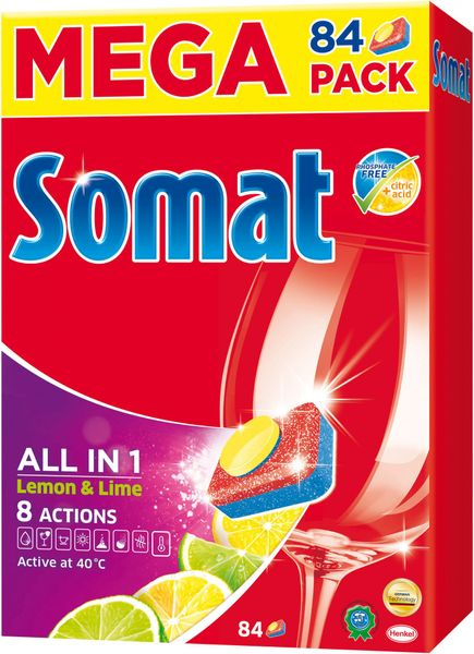 Somat Mega All in One Lemon tablety 84 ks