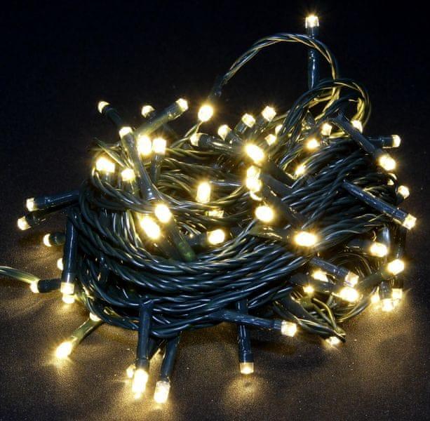 Seizis LED osvětlení venkovní blikající teplá bílá 100 žárovek