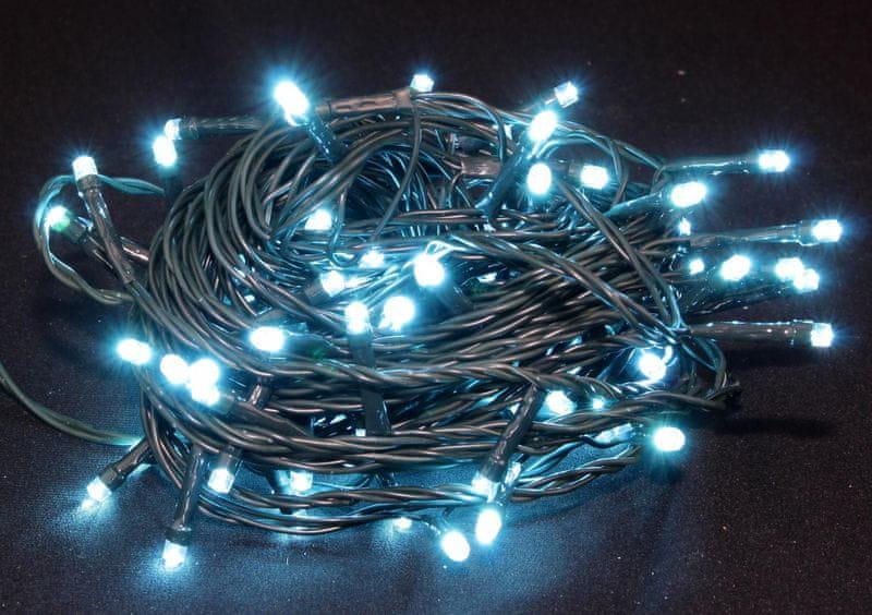 Seizis LED osvětlení venkovní blikající tyrkysové 100 žárovek