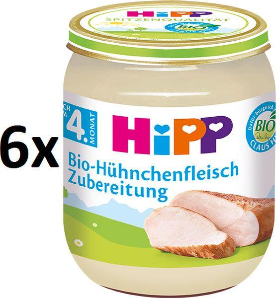 HiPP BIO Kuřecí maso - 6 x 125g