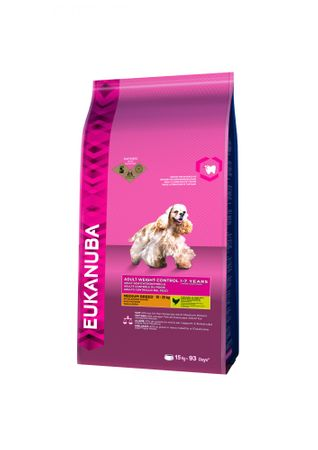 Eukanuba sucha karma dla psa Adult Medium Weight Control / Light - 15kg