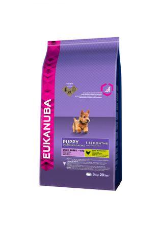 Eukanuba hrana za mladičke majhin pasem, 3 kg