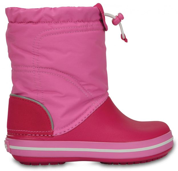 Crocs Crocband Lodge Point Boot Kids Candy Pink/Party Pink 24-25 (C8)