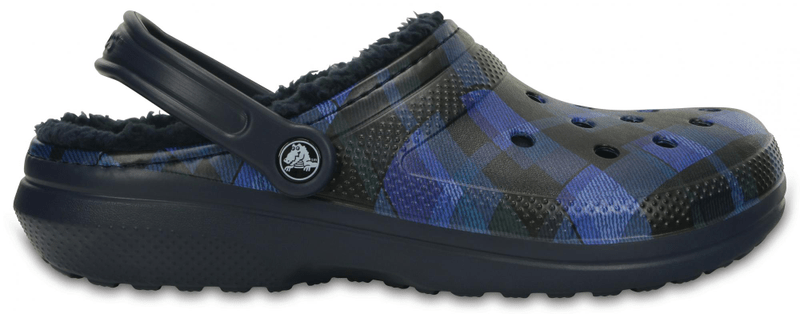Crocs Classic Lined Graphic Clog Navy/Cerulean Blue 46-47 (M12)