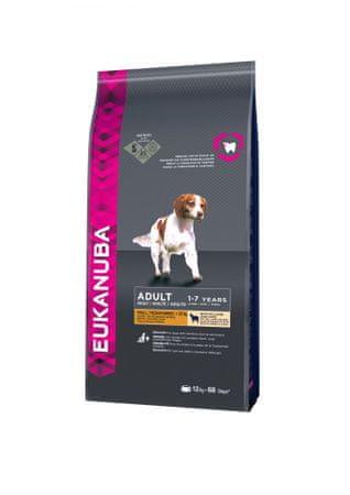 Eukanuba hrana za odrasle pse majhnih in srednjih pasem, jagnjetina,12 kg