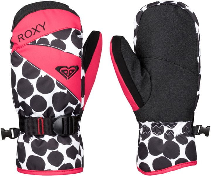 Roxy Jetty Girl Mitten Irregular Dots True Black L