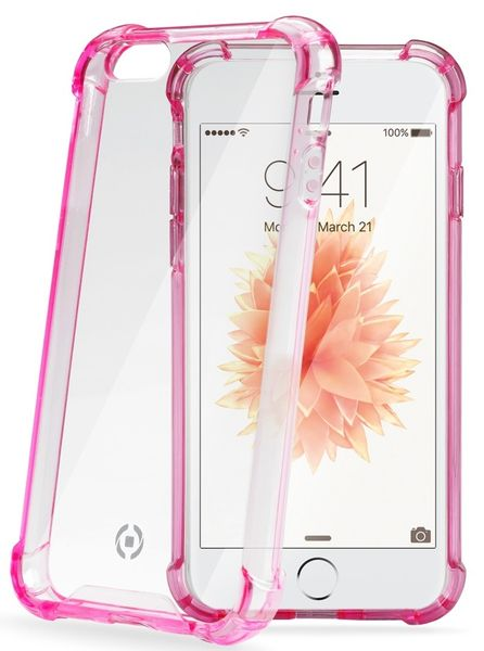CellularLine zadní kryt, CELLY Armor, Apple iPhone SE, růžová