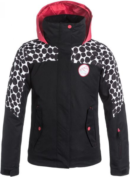 Roxy Jetty Girl Colorblock Snowjacket Irregular Dots True Black 12/L