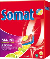 Somat All-in-One Lemon & Lime tablety do myčky 52 ks