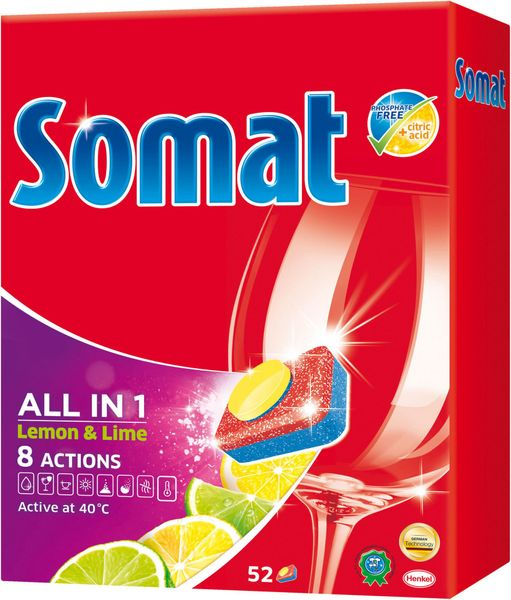 Somat XL All in One Lemon tablety 52 ks