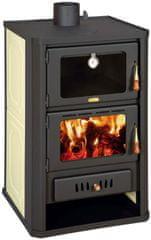 Prity FG W15 kaminska peč na drva s pečico, za etažno ogrevanje