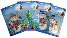 Seizis Set 4 ks vánočních samolepek, barevné