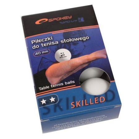 Spokey Skilled fehér ping-pong labda, 6 db
