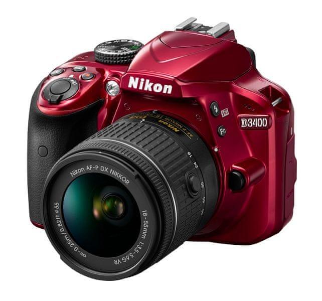Nikon D3400 + 18-55 AF-P VR Red