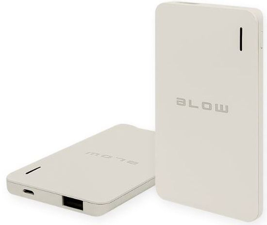 Blow Power bank 6.000mAh PB12, sivo/bel