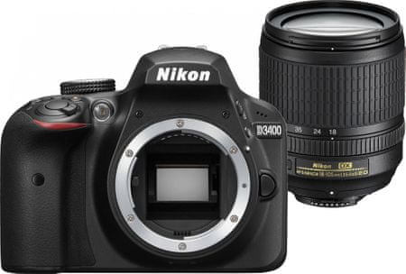 NIKON D3400 + 18-105mm VR Tükörreflexes Fényképezőgép