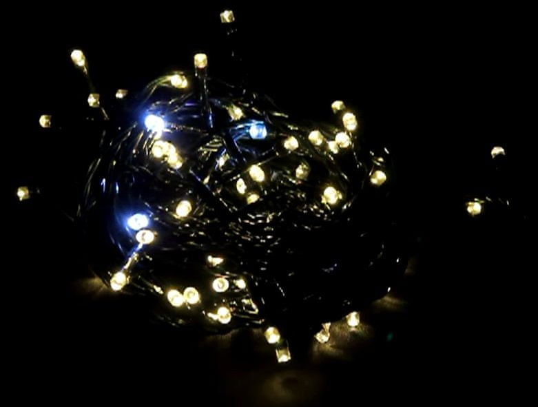 Seizis LED osvětlení 100 žárovek, 10. blikající, teplá bílá