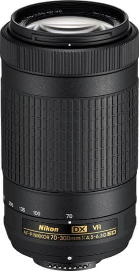 Nikon objektiv Nikkor AF-P DX 70-300/4.5-6.3 G ED VR - Odprta embalaža