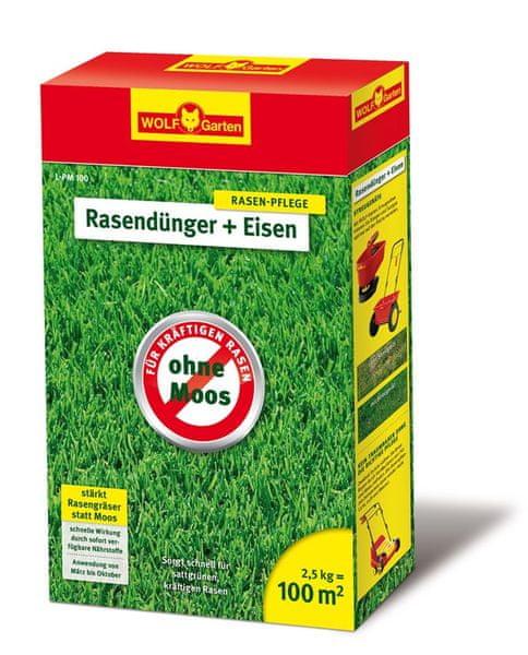 Wolf - Garten LP-M 100 - Travní hnojivo se železem