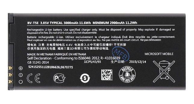 Nokia baterie, BV-T5E, 2900mAh,Li-Ion, Bulk