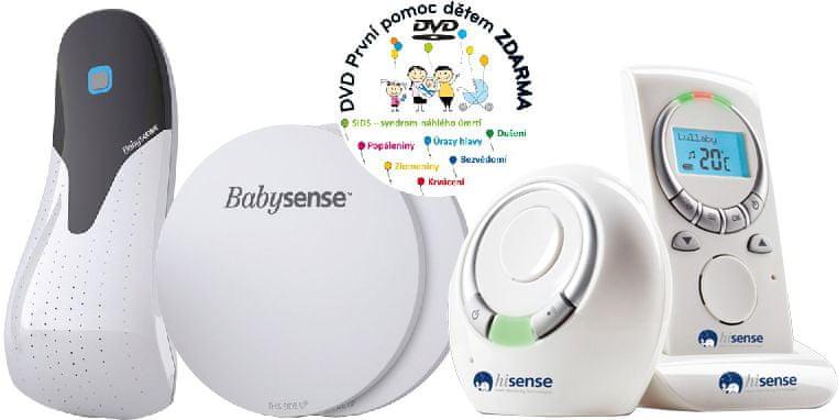 Babysense Monitor dechu s dětskou chůvičkou Babysense Bundle + Dárek DVD - První pomoc dětem