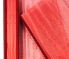 Seizis Lesklá organza červená 2x 2,7 m