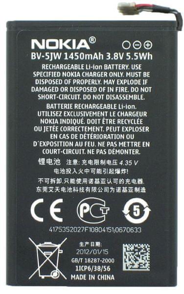 Nokia baterie, BV-5JW, 1450mAh, Li-Ion, Bulk