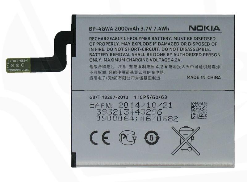 Nokia baterie, BP-4GWA, 2000mAh, Li-Polymer, Bulk