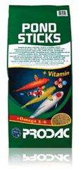 Prodac hrana za ribe v kosmičih Pond Sticks, 5 kg - Odprta embalaža