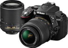Nikon D5300 + 18-55 AF-P VR + 55-200 VR II