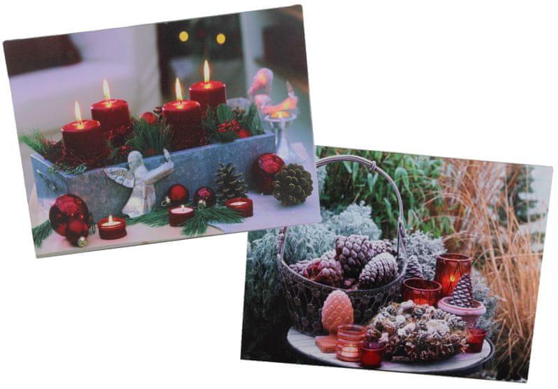 Seizis Set 2 ks obrázků s LED, vánoční motiv 2