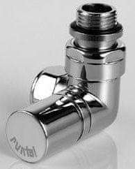 Zehnder RADVAL XS ventil rohový uhlový, ručné hlavice vľavo, chróm 838368