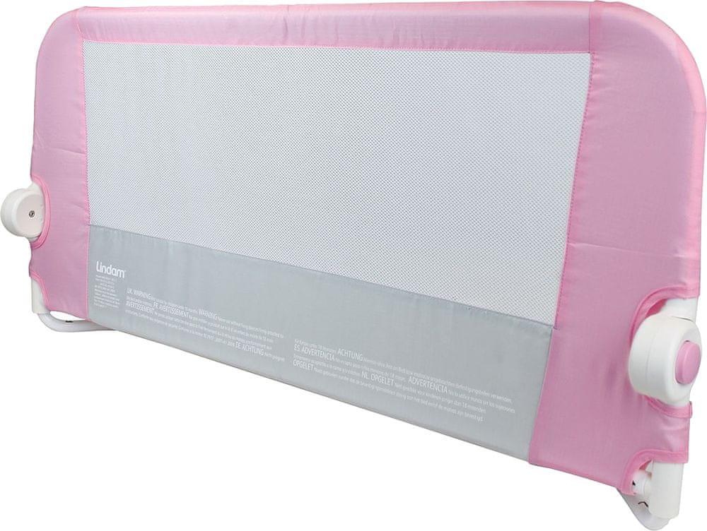 Lindam Dětská zábrana k posteli - nová, růžová