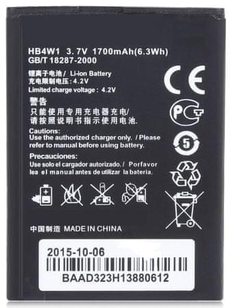 Huawei baterie, HB4W1, 1700mAh, Li-Ion, BULK