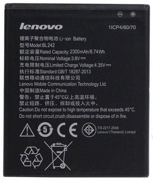 Lenovo baterie, BL242, 2300mAh, Li-Ion, BULK