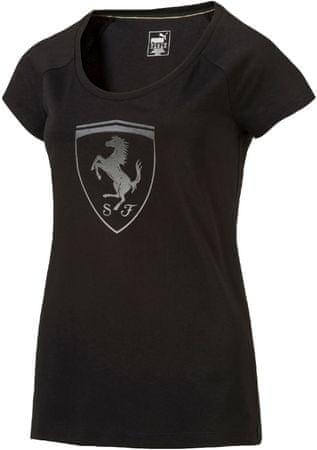 Puma ženska majica Ferrari Big Shield Tee, črna, M